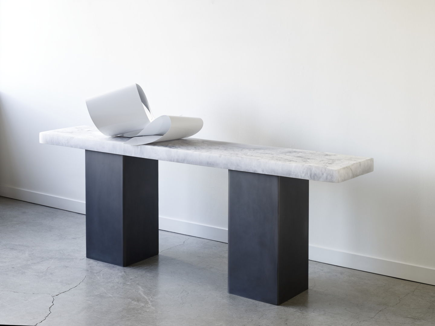 black and marble console table