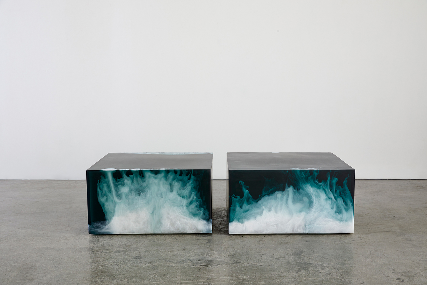 modern side table made with resin