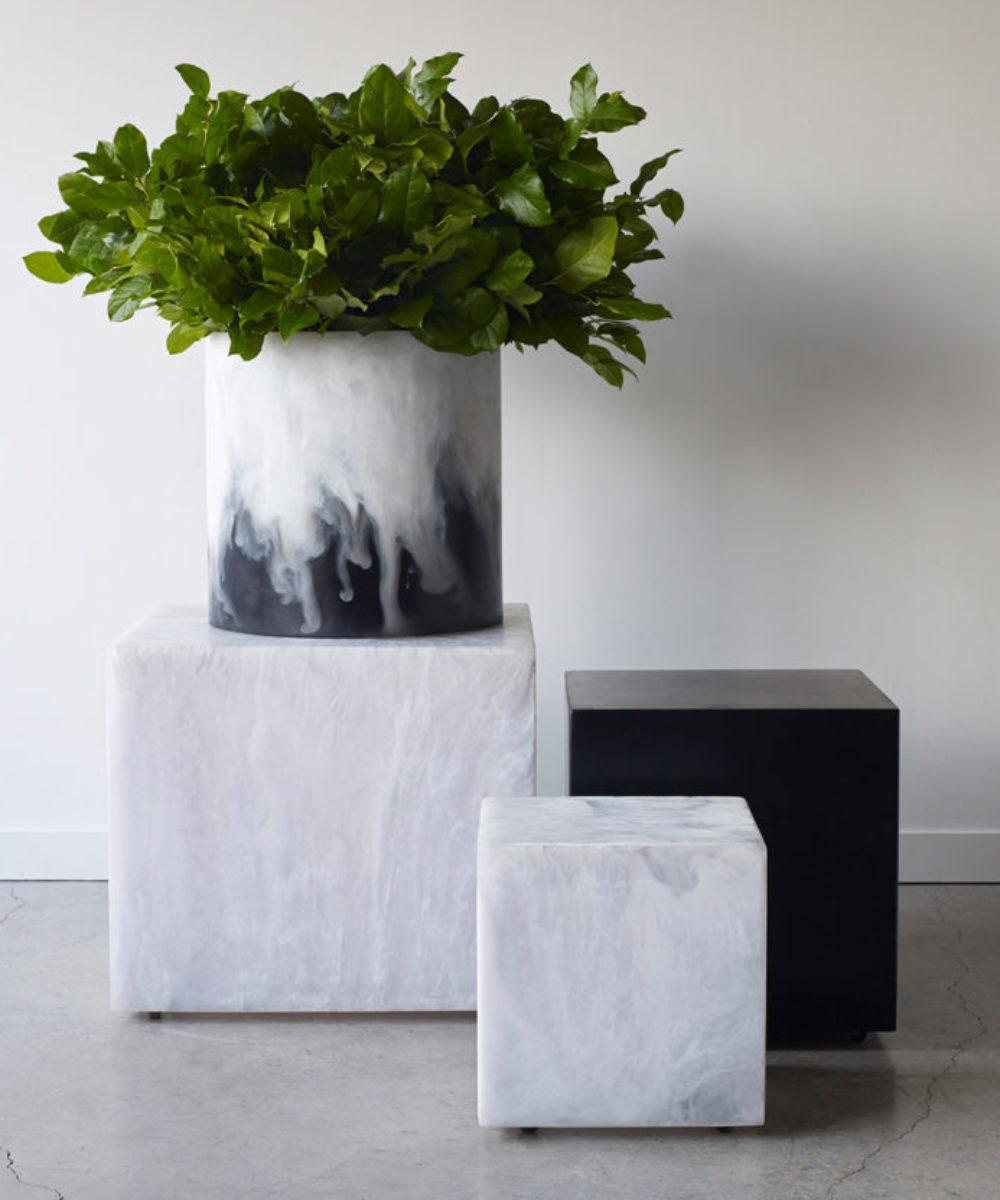 Four modern resin stools