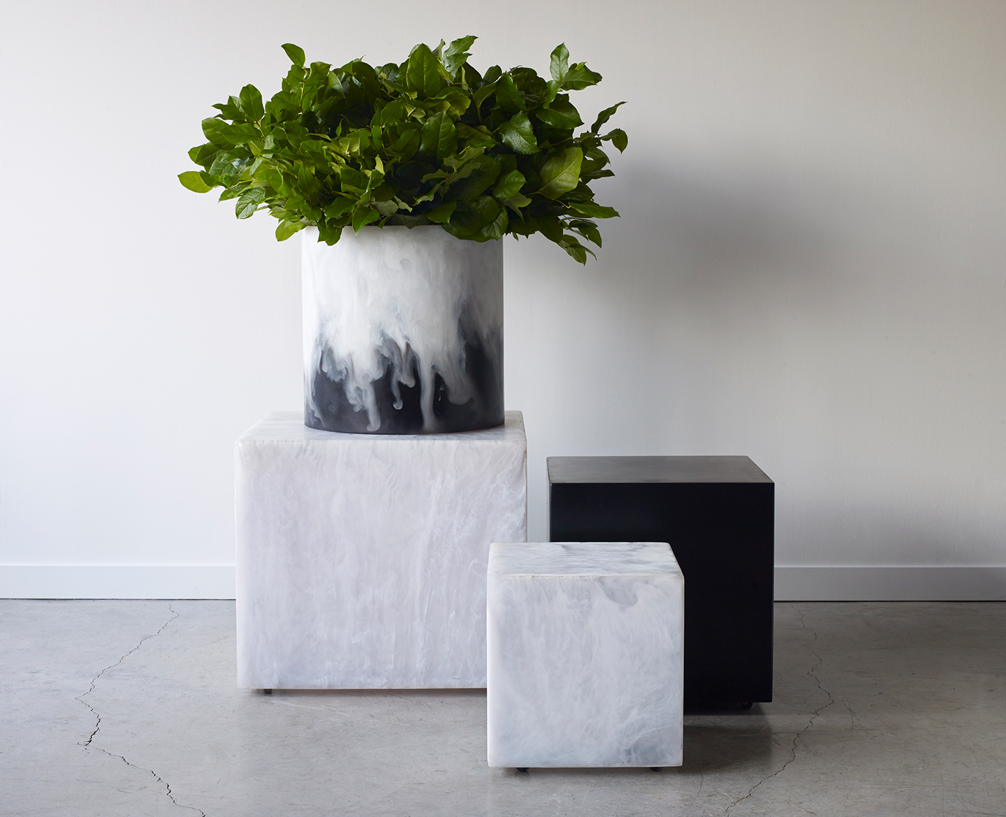Four modern resin stools