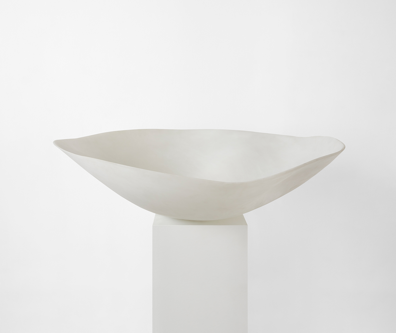 resin white handmade bowl