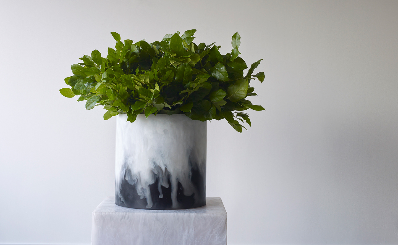 dual colour contemporary vase