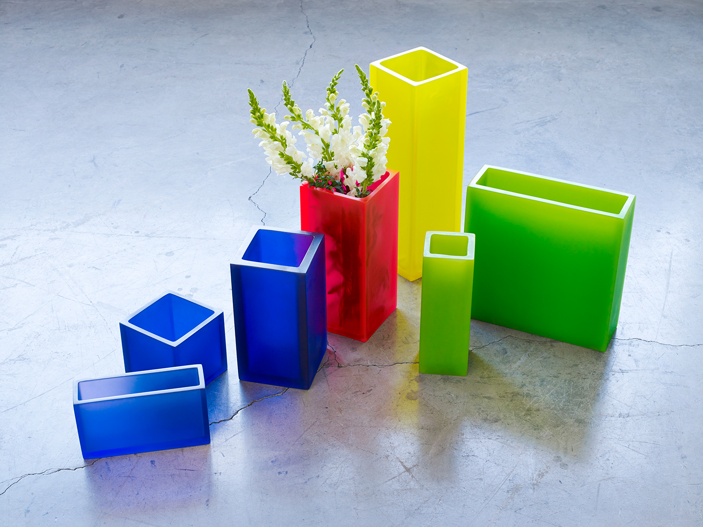 colourful modern flower vases