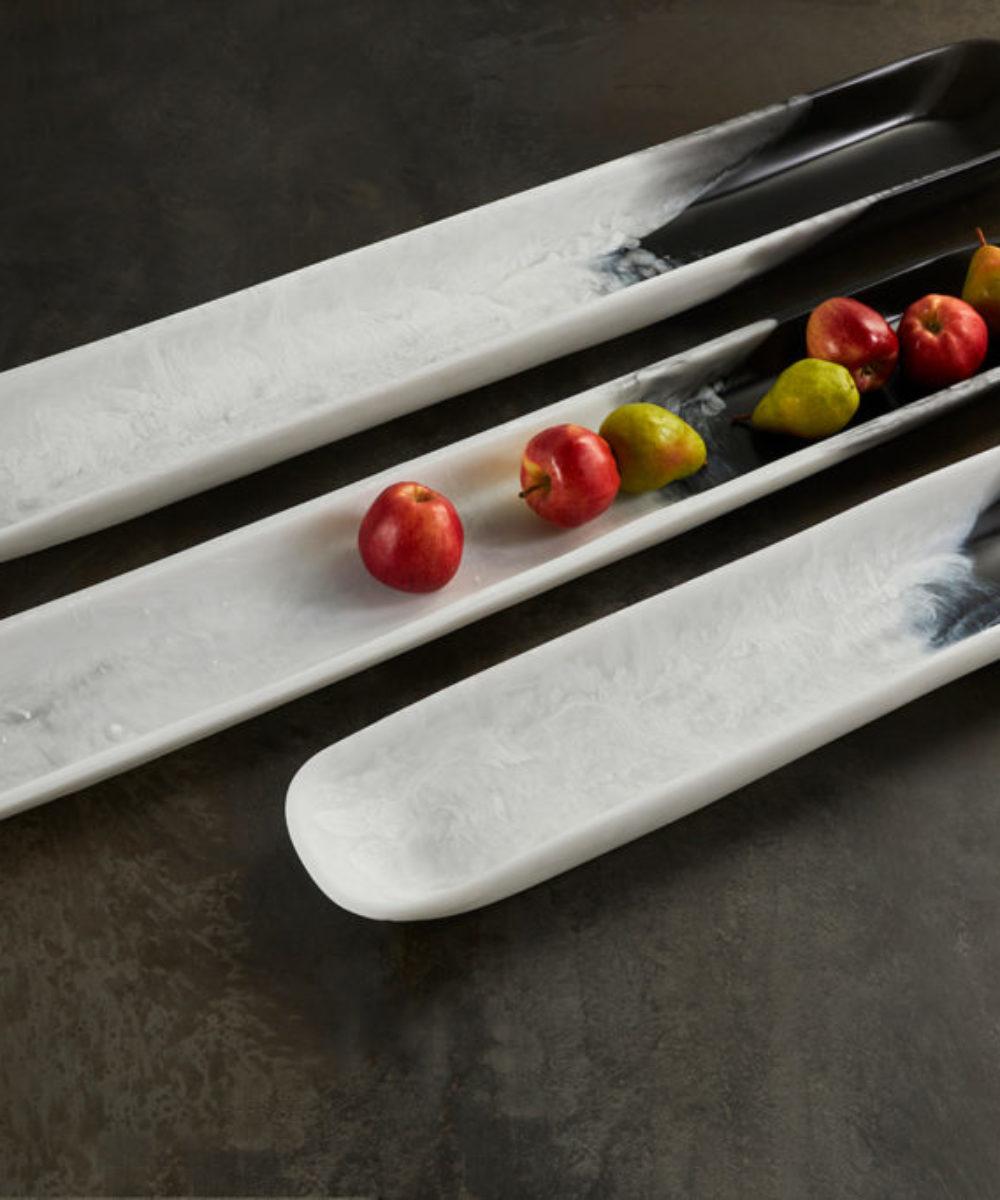 dual colour decorative table tray