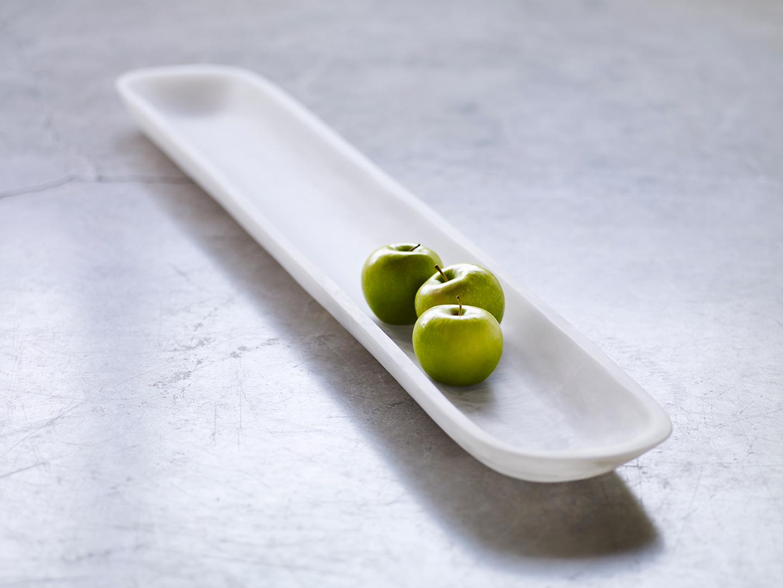 decorative white table tray
