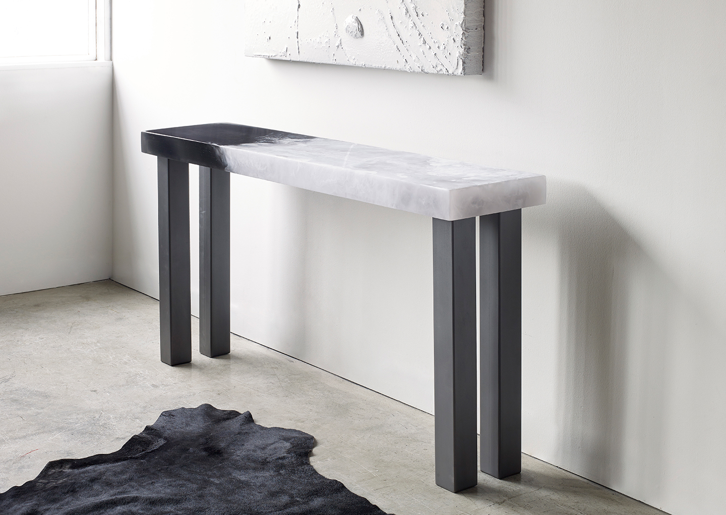 a modern console table
