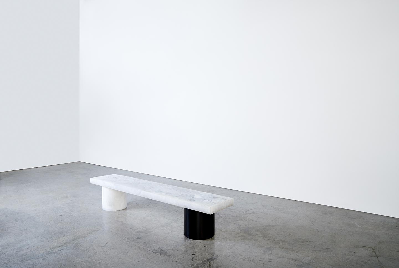 a black and white unique coffee table