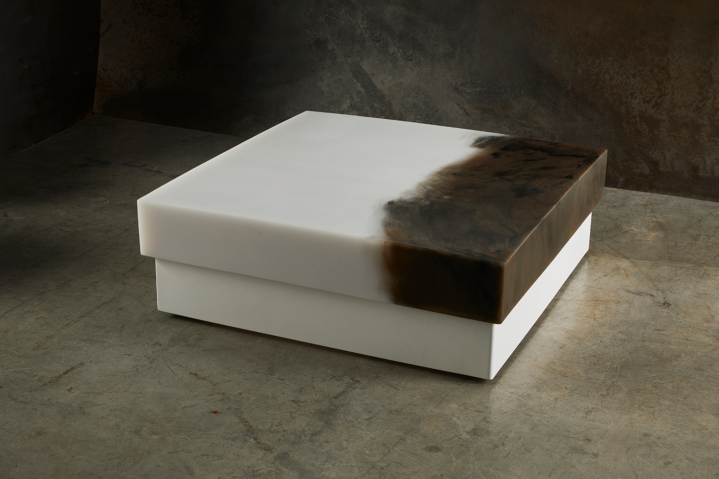 white and brown modern coffee table