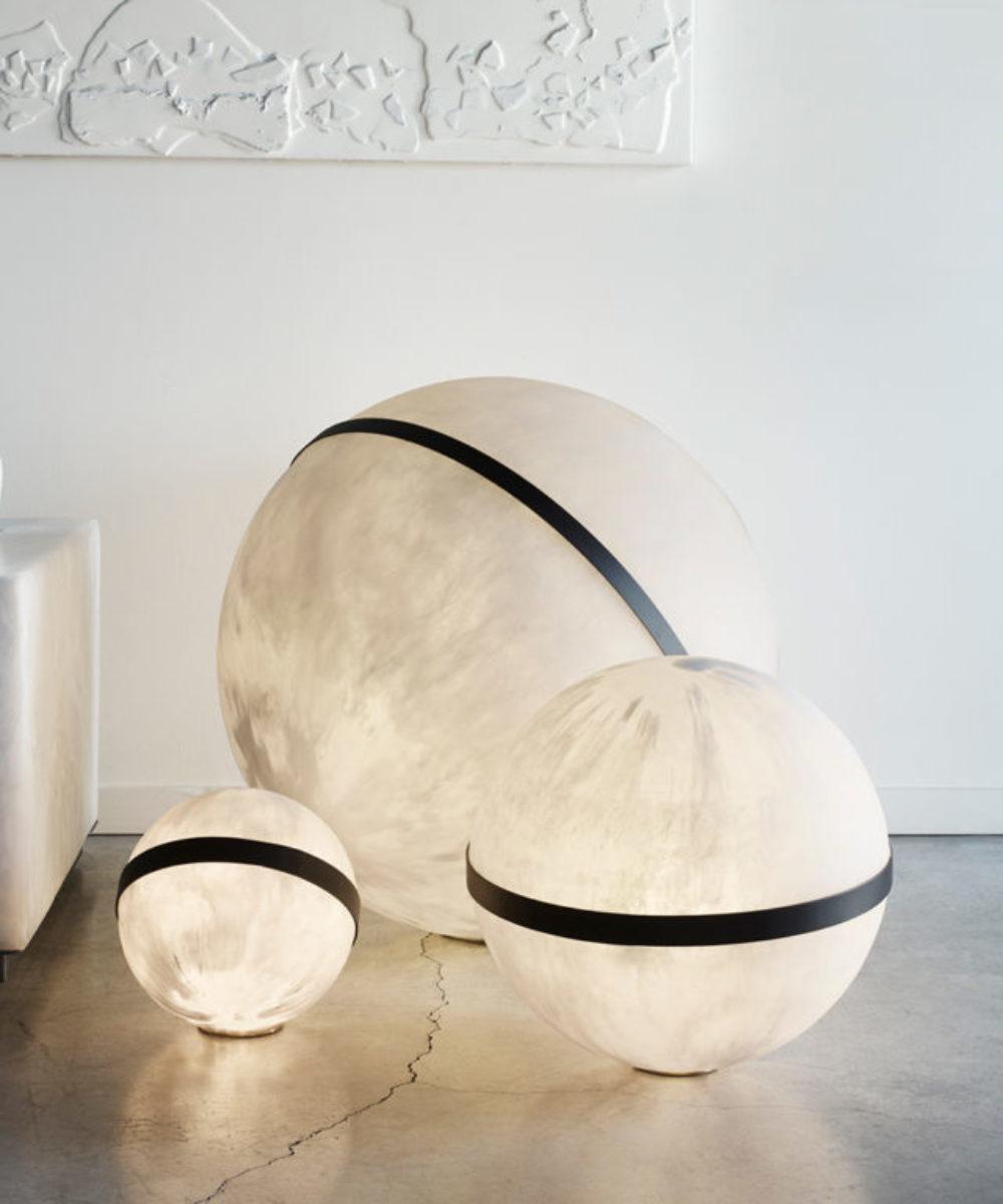 sphere floor lights