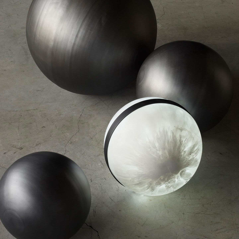 sphere floor light and lunar balls