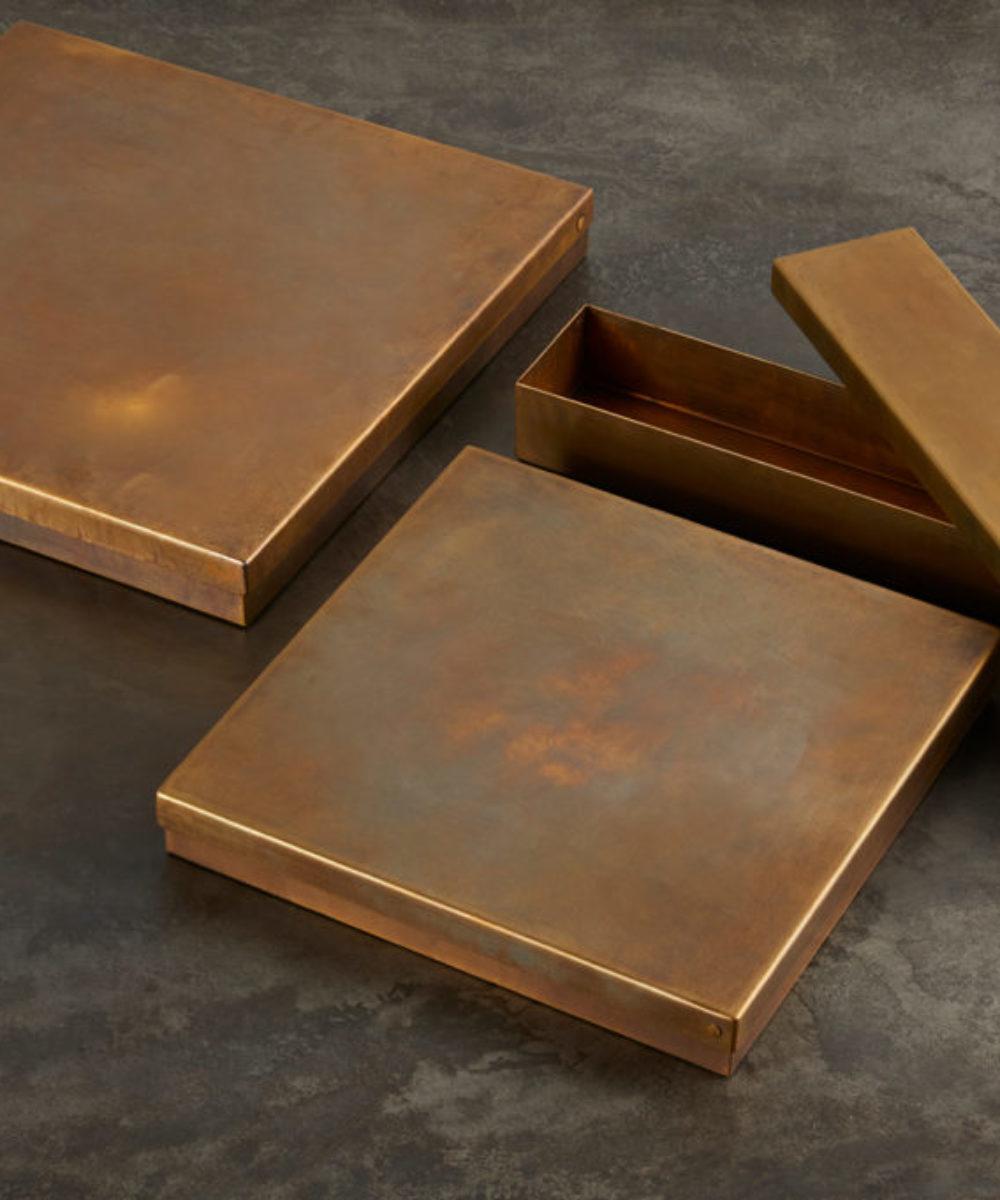 metal brass boxes