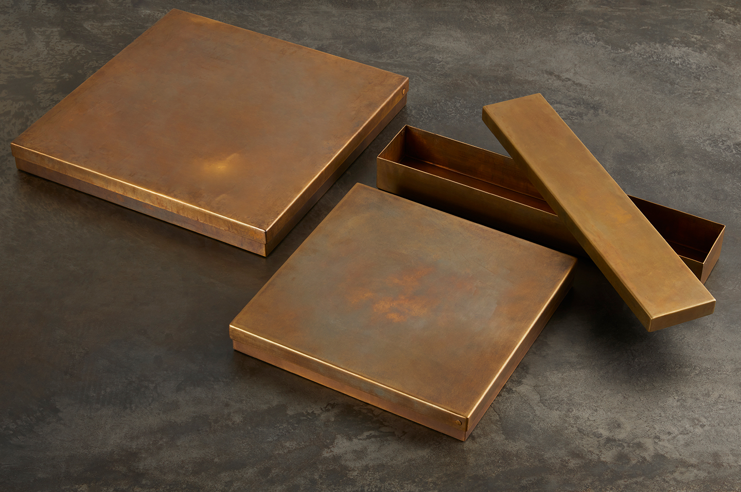metal brass boxes