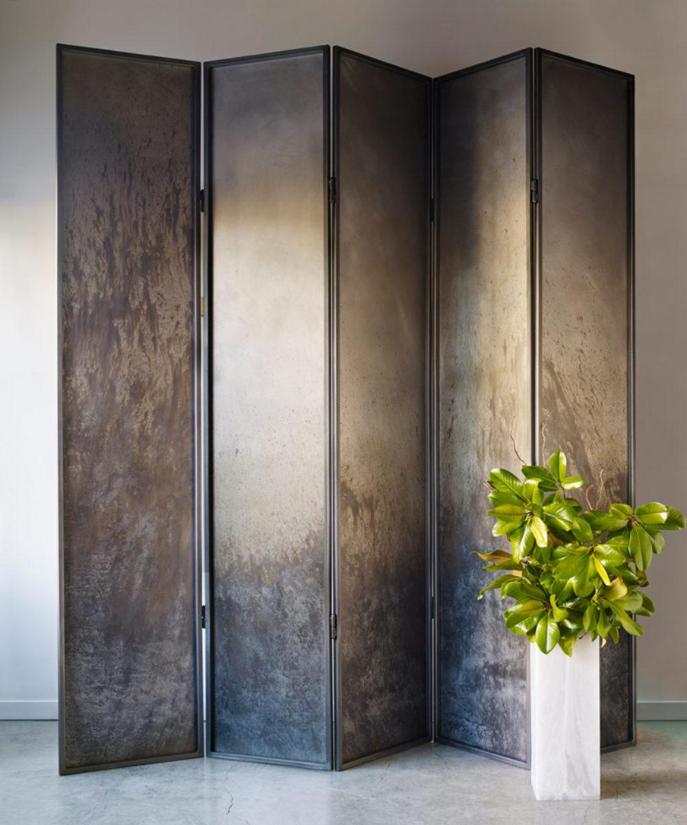 five panel steel screen