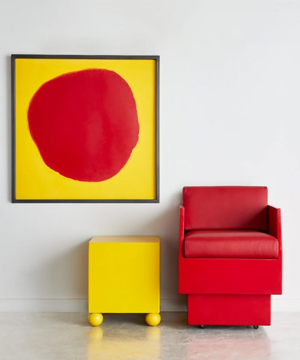 Dot 1801, Red club chair, yellow side table Oct 2018 (wecompress.com)