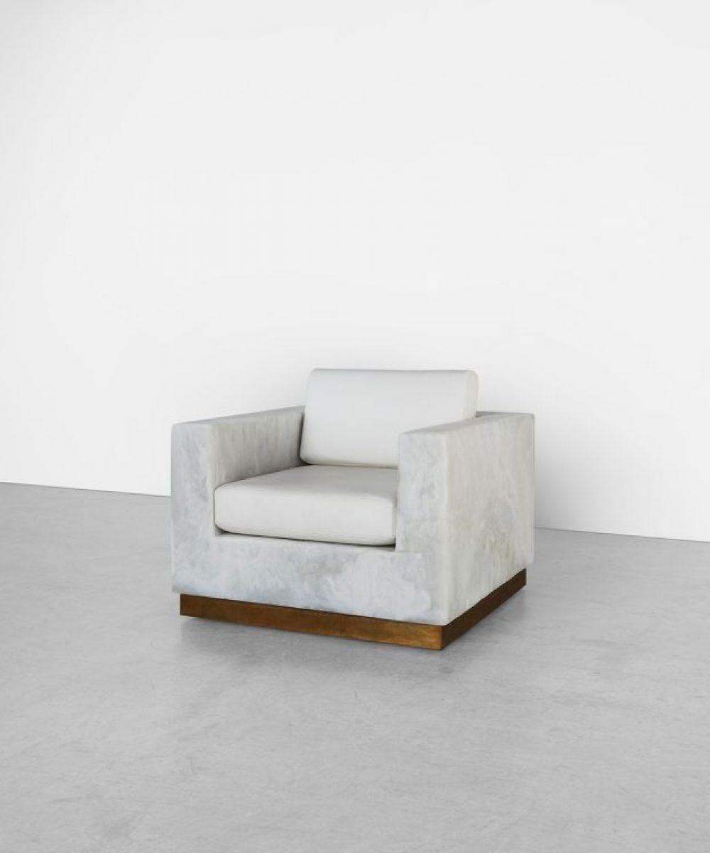 White Marble Brass Base Preston Club Chair Side Nov 2018